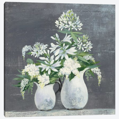 Later Summer Bouquet III White Vase Canvas Print #JPU52} by Julia Purinton Art Print