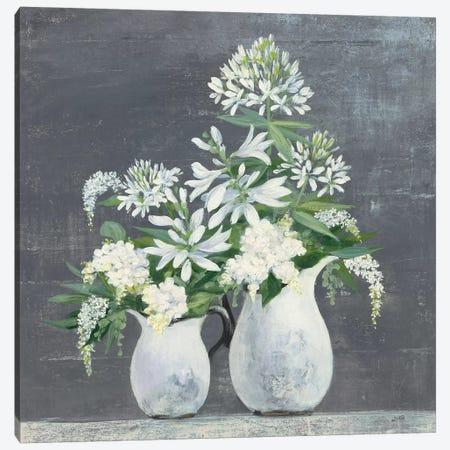 Later Summer Bouquet III White Vase Canvas Print #JPU52} by Julia Purinton Art Print