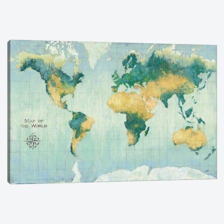Golden Earth 3-Piece Canvas #JPU56} by Julia Purinton Canvas Art