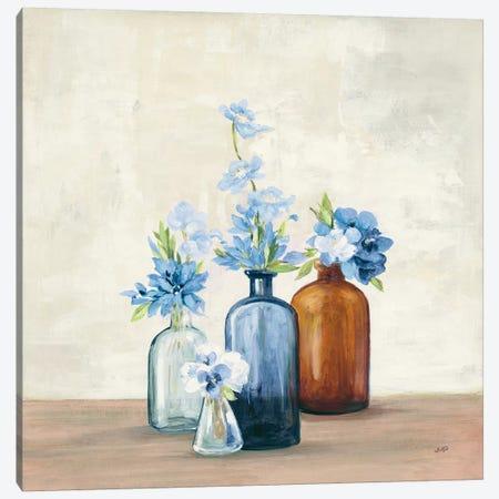 Windowsill Garden I Blue Canvas Print #JPU64} by Julia Purinton Canvas Art Print