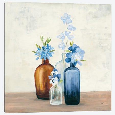 Windowsill Garden II Blue Canvas Print #JPU65} by Julia Purinton Canvas Print