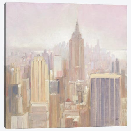 Manhattan In The Mist Canvas Print #JPU6} by Julia Purinton Canvas Art