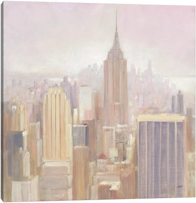 Manhattan In The Mist Canvas Art Print