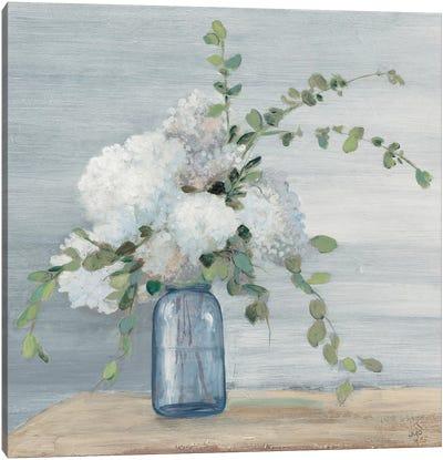 Morning Bouquet Navy Crop Canvas Art Print