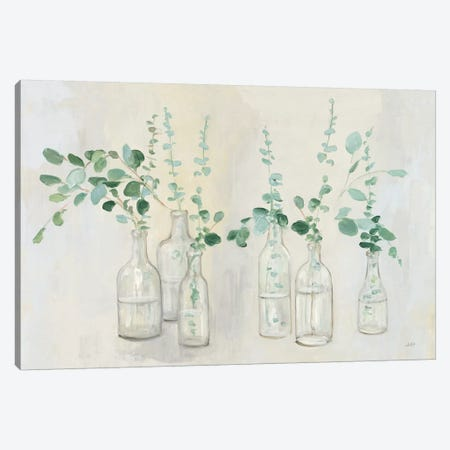 Summer Cuttings III Green Crop Canvas Print #JPU76} by Julia Purinton Canvas Artwork
