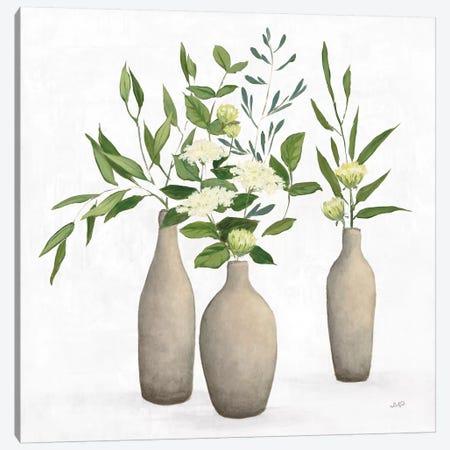 Natural Bouquet I White Canvas Print #JPU83} by Julia Purinton Canvas Artwork