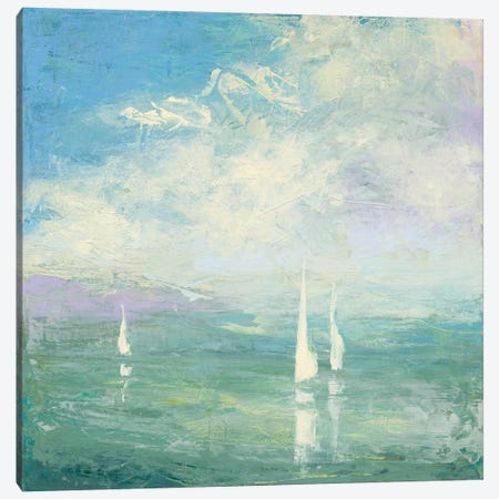 Setting Sail 3-Piece Canvas #JPU8} by Julia Purinton Canvas Art Print
