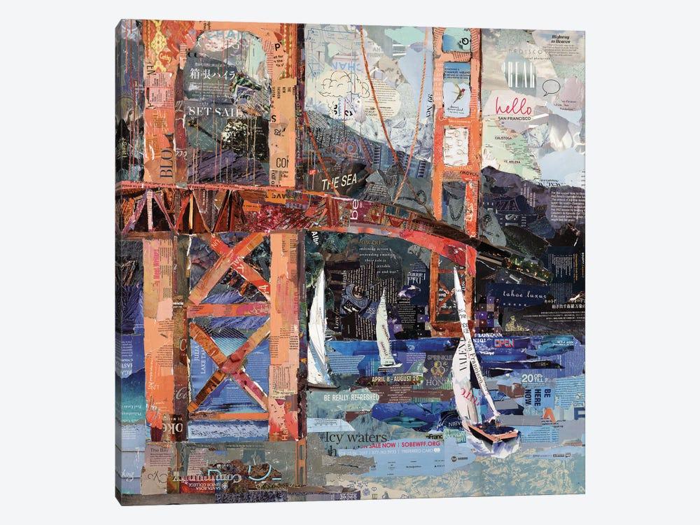 Hello San Francisco by Jamie Pavlich-Walker 1-piece Canvas Artwork