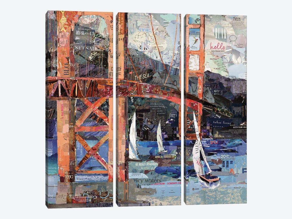 Hello San Francisco by Jamie Pavlich-Walker 3-piece Canvas Wall Art
