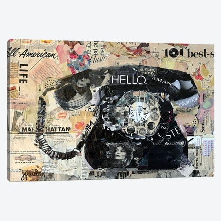 Hello Canvas Print #JPW34} by Jamie Pavlich-Walker Canvas Artwork