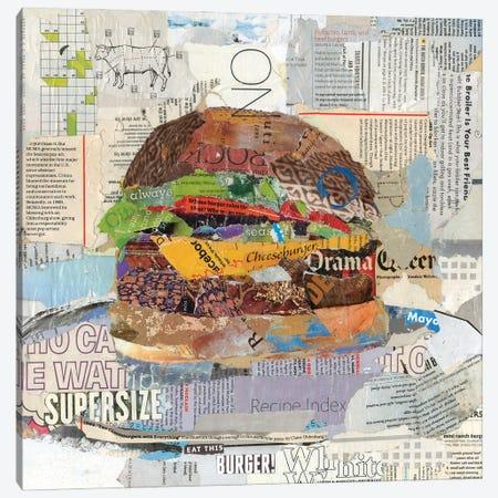Eat This Burger Canvas Print #JPW38} by Jamie Pavlich-Walker Canvas Art Print