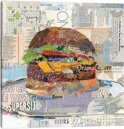 Eat This Burger Canvas Art Print