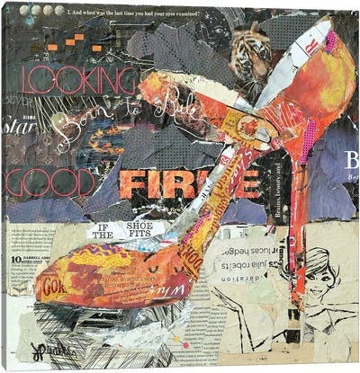On Fire Canvas Art Print