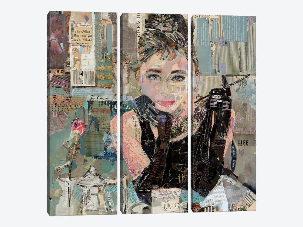 Breakfast At Tiffany's by Jamie Pavlich-Walker 3-piece Canvas Print