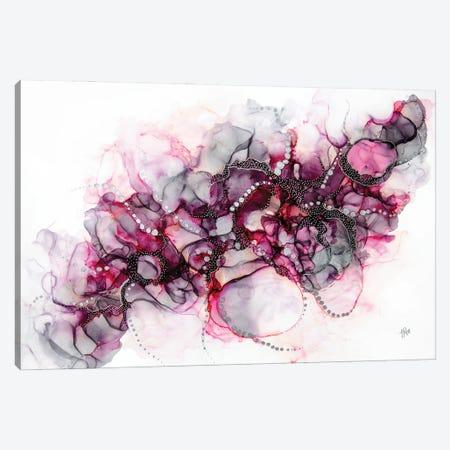 Pink Elephant In The Room Canvas Print #JPZ18} by Jamie Pomeranz Canvas Wall Art