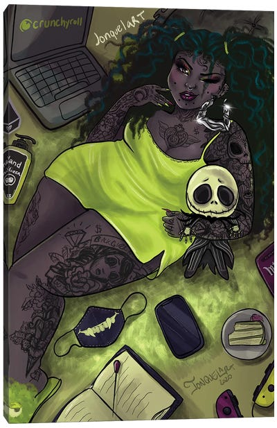 Quarantine Bae 4 Canvas Art Print