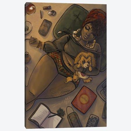 Quarantine Bae 3 Canvas Print #JQA18} by Jonquel Art Canvas Wall Art