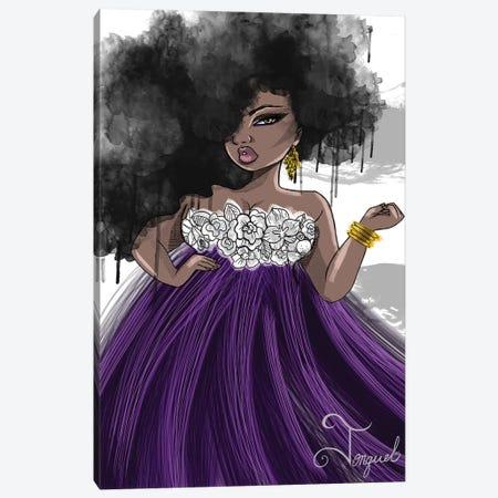 Pretty In Purple Canvas Print #JQA26} by Jonquel Art Canvas Artwork