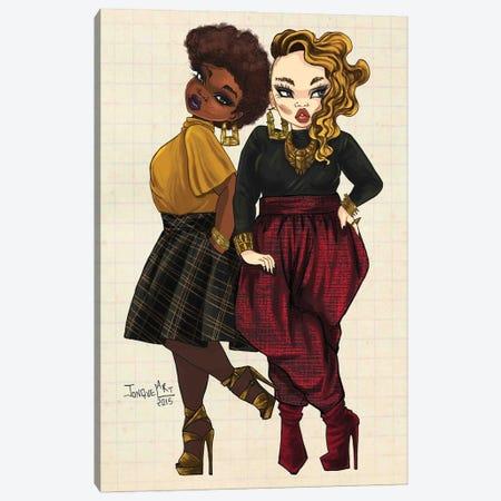 The New It Girls Canvas Print #JQA29} by Jonquel Art Art Print