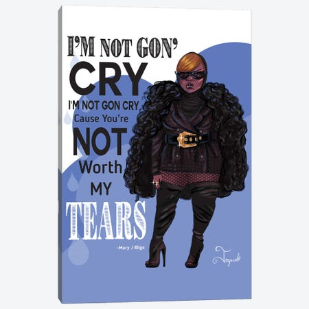 No More Tears Canvas Print #JQA35} by Jonquel Art Canvas Art Print