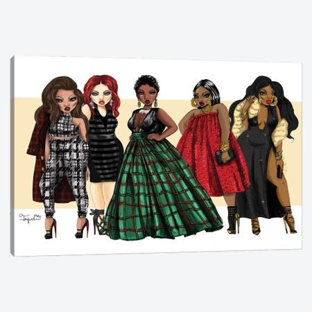 Holiday Fashion Canvas Print #JQA38} by Jonquel Art Canvas Artwork