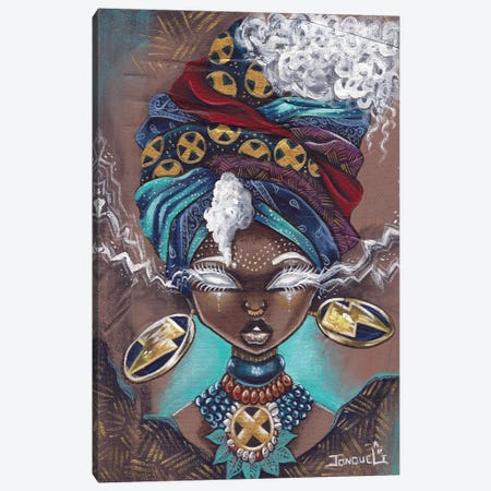 Afro Storm Canvas Print #JQA44} by Jonquel Art Canvas Art