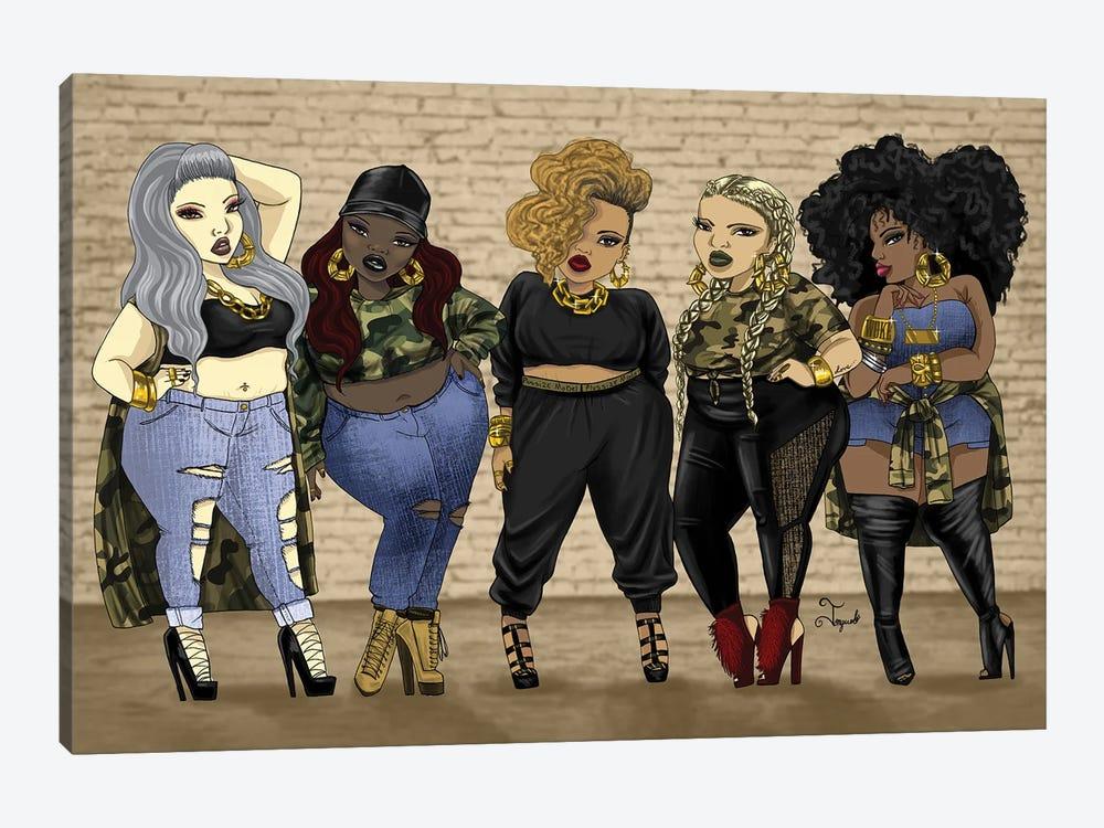 Who Run The World......Girls by Jonquel Art 1-piece Canvas Art Print