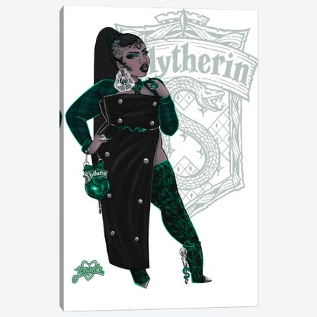 Rep Your House (Slytherin) Canvas Print #JQA55} by Jonquel Art Canvas Print