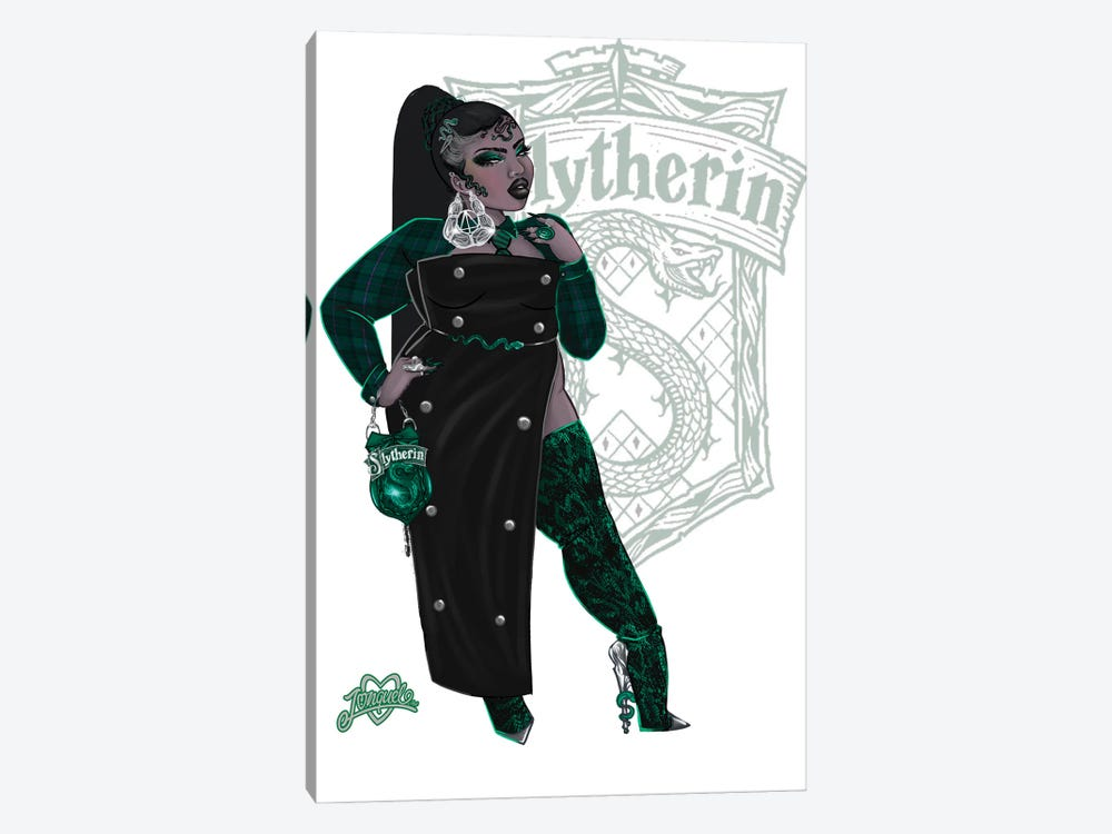 Rep Your House (Slytherin) by Jonquel Art 1-piece Canvas Art