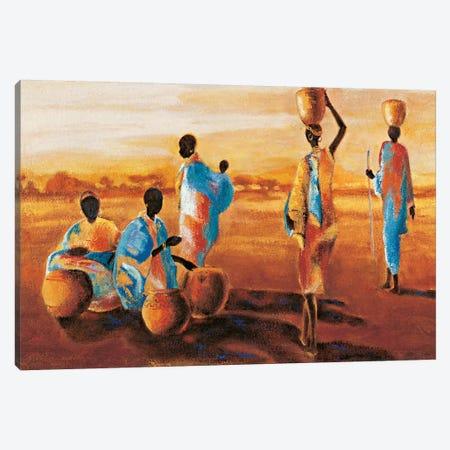 Après - Midi en Afrique 3-Piece Canvas #JQB1} by Jaques Beaumont Canvas Wall Art