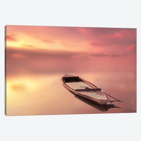The Boat Canvas Print #JQN3} by Joaquin Guerola Canvas Wall Art