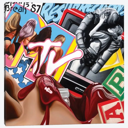 Resurrect Canvas Print #JRA24} by Rawksy Canvas Art