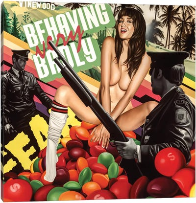 Behaving Badly Canvas Art Print