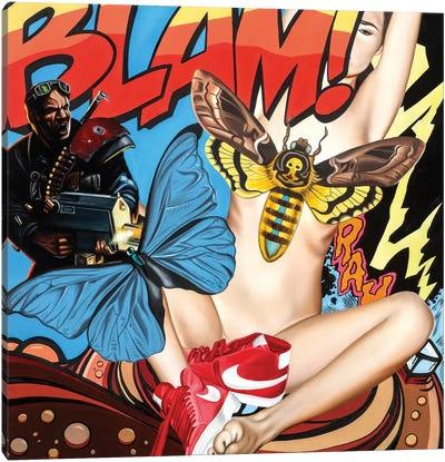 Blam Canvas Art Print