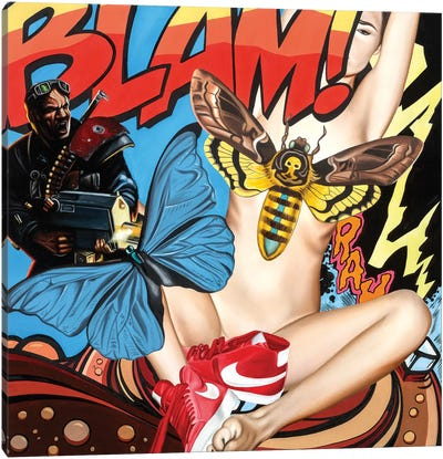 Blam Canvas Art Print
