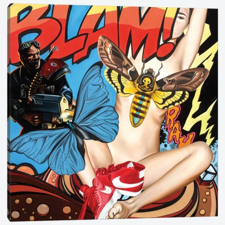 Blam Canvas Print #JRA5} by Rawksy Canvas Print