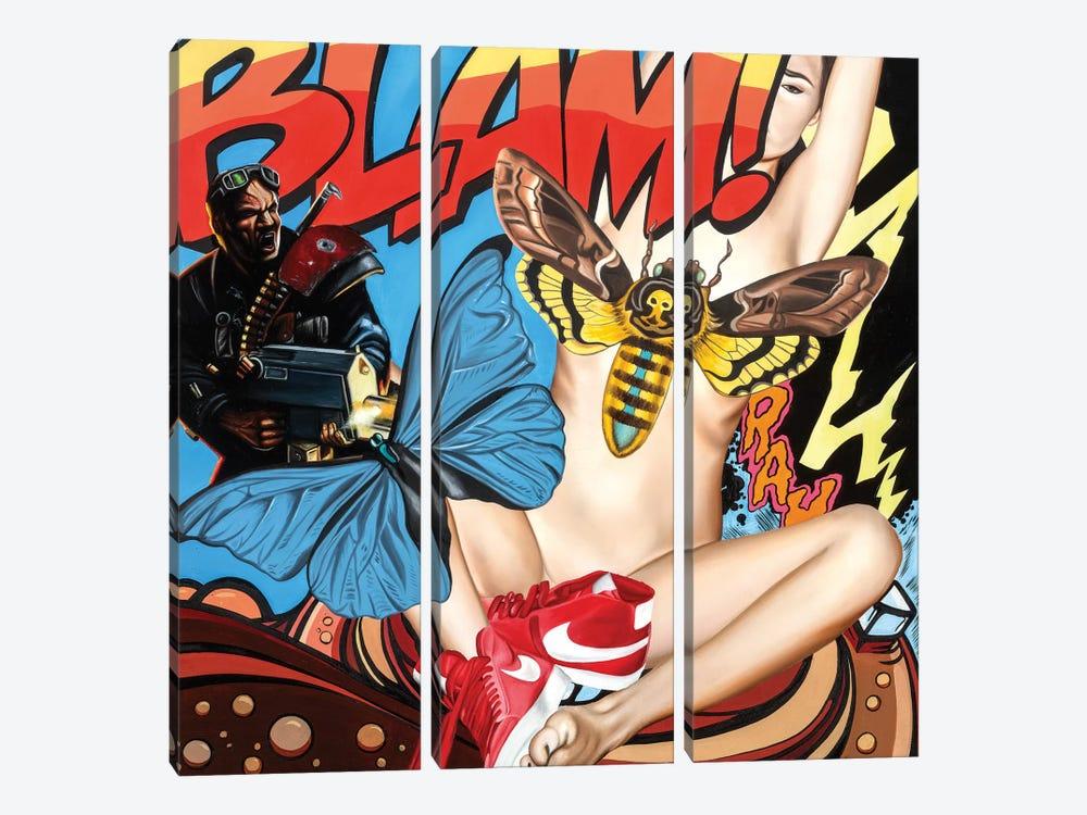 Blam by Rawksy 3-piece Canvas Artwork