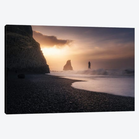 Reynisfjara Sunrise Canvas Print #JRD10} by Jorge Ruiz Dueso Canvas Print