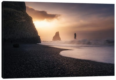 Reynisfjara Sunrise Canvas Art Print