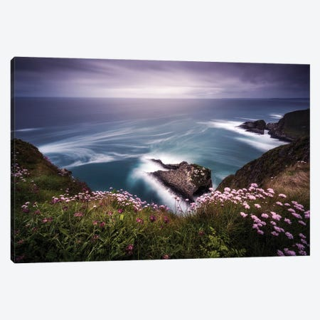 On The Edge Of The Cliff Canvas Print #JRD14} by Jorge Ruiz Dueso Canvas Artwork