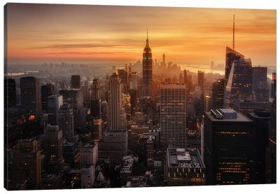 Manhattan's light Canvas Art Print