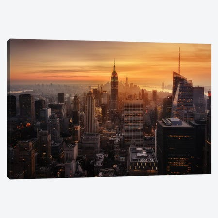 Manhattan's light Canvas Print #JRD1} by Jorge Ruiz Dueso Art Print