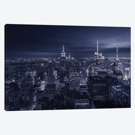 Blue City Canvas Print #JRD3} by Jorge Ruiz Dueso Canvas Art Print