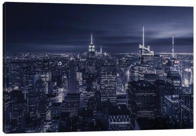 Blue City Canvas Art Print