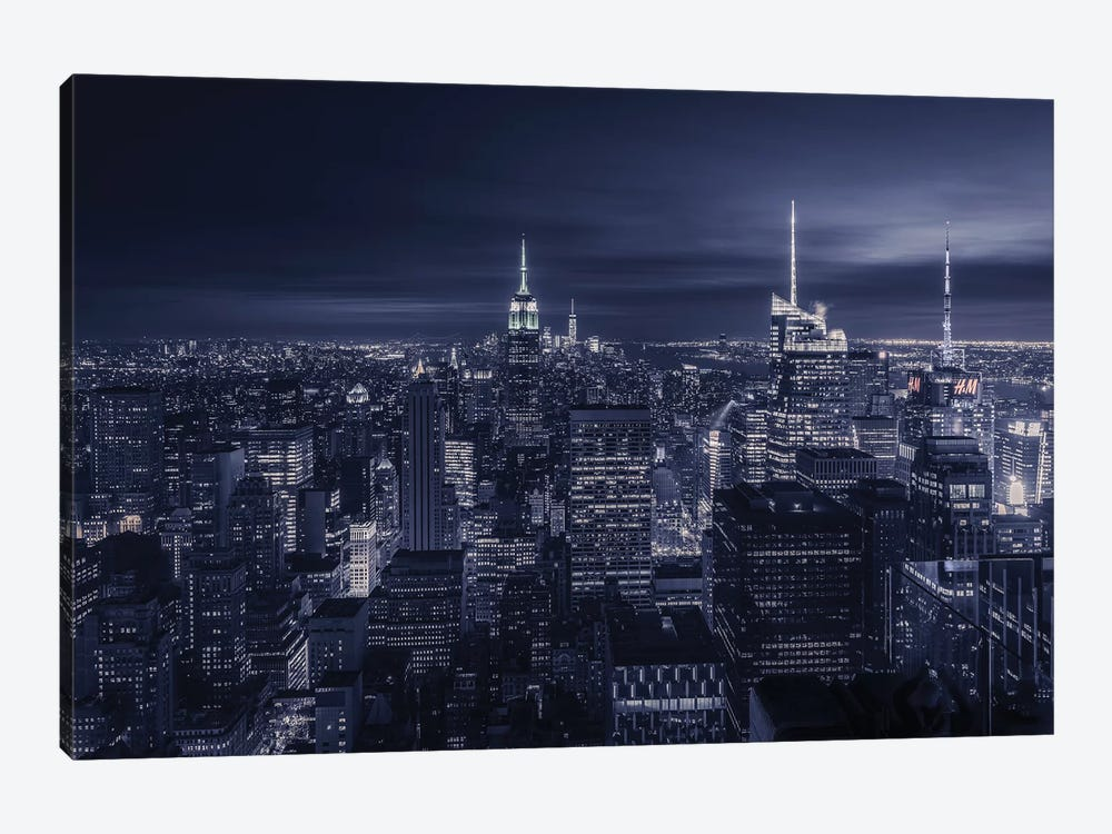 Blue City by Jorge Ruiz Dueso 1-piece Canvas Print
