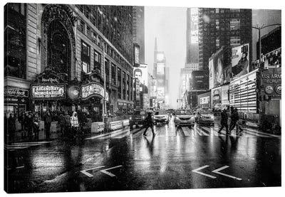 Times Square Canvas Art Print