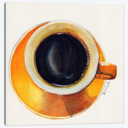 Yellow Coffee Cup Canvas Print #JRE100} by Jennifer Redstreake Canvas Art