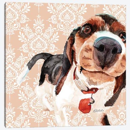 Beagle Canvas Print #JRE103} by Jennifer Redstreake Canvas Art