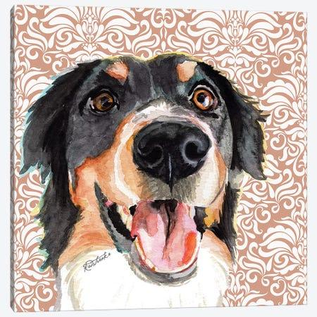Bernese Mountain Dog Canvas Print #JRE104} by Jennifer Redstreake Art Print