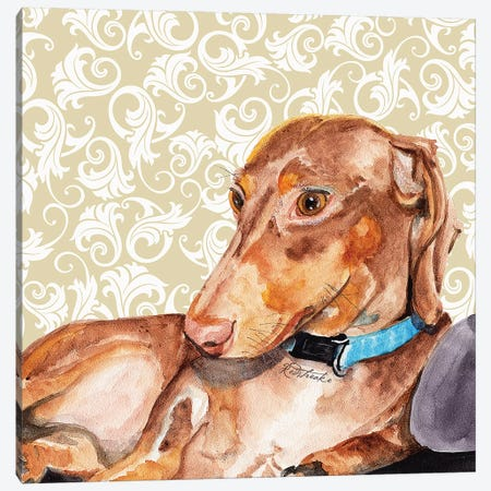 Dachshund Canvas Print #JRE109} by Jennifer Redstreake Canvas Art